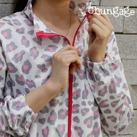 Wide-Waterproof Fabric) Soft Leopard (Pink) [W-019]