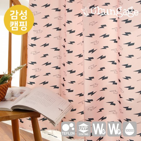 Emotional camping fabric Cotton-like waterproofing cloth Thunder T024