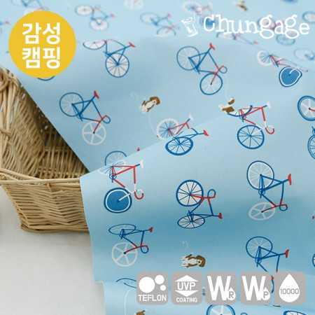Emotional camping fabric Cotton-like waterproofing cloth Break time T032