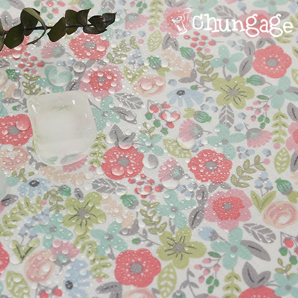 Waterproof fabric Non-toxic TPU laminate cloth) Earl Gray flower
