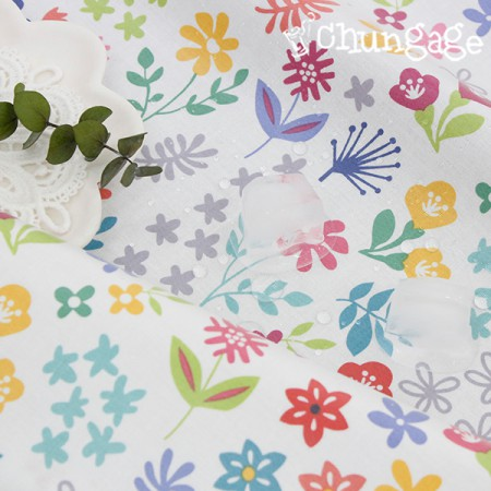 Waterproof fabric Non-toxic TPU laminate cloth) Fancy floral