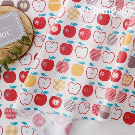 Waterproof fabric non-toxic TPU laminate cloth) Apple pie