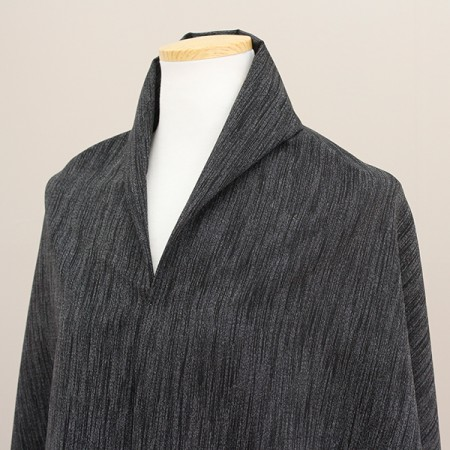 Large-linen wool blend) Black line
