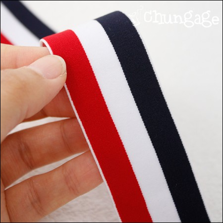 Waist rubber band 40mm triple stripe