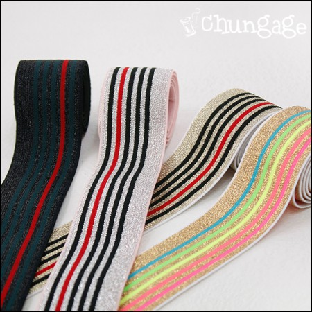 Waist Rubber Band 40mm Shining Stripe (4 types)