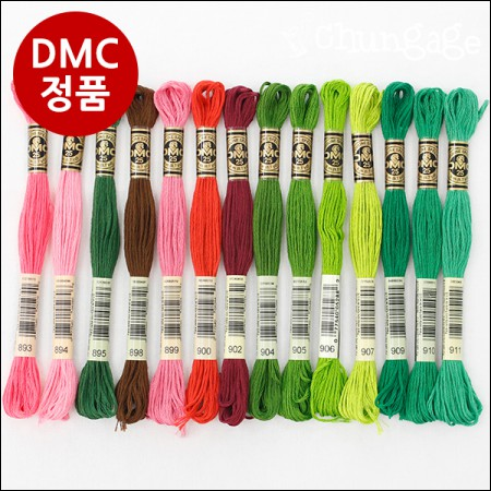French embroidery thread) DMC genuine cotton yarn 505Color Stolen yarn, life embroidery [738 ~ 930]