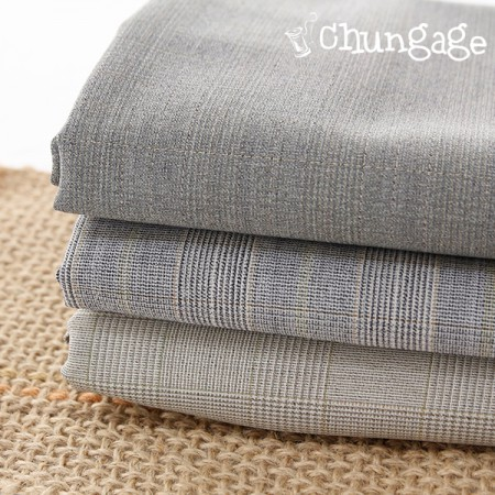 Large-wool blend) Simple check (3 kinds)