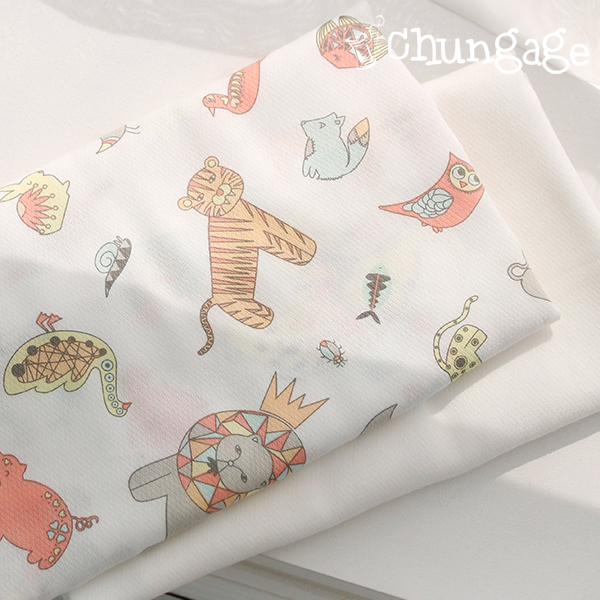 Diaper fabric) Weird animal kingdom (two kinds)