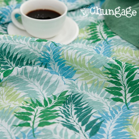 "Shaker Ripple Ultra Lightweight Fabric Series) Green Leaf [713] <div style=""display:none""> Ripple fabric / Summer fabric / Lightweight fabric / Nap duvet fabric / Sensitive fabric </div>"