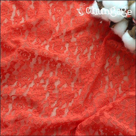 Significantly - Span Lace Rassel) Red Salsa [Red Orange]