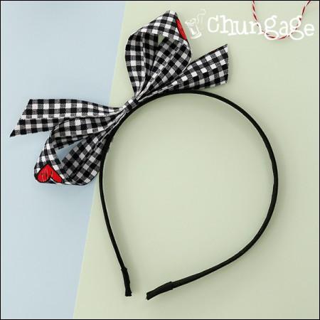 Cotton Fabric Ribbon Fabric Ribbon Tape Square Heart (3Hermp / 2 species)