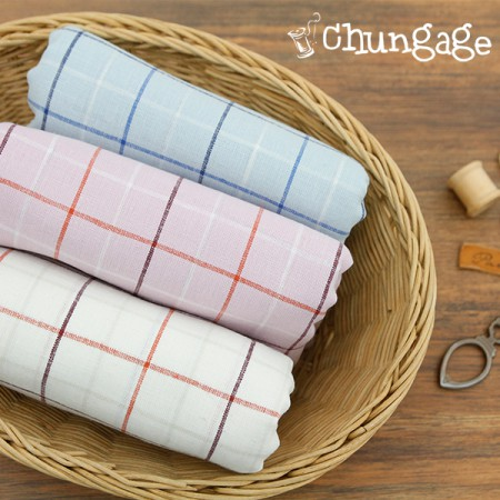 Large-linen dyeing) Clean check (3 kinds)