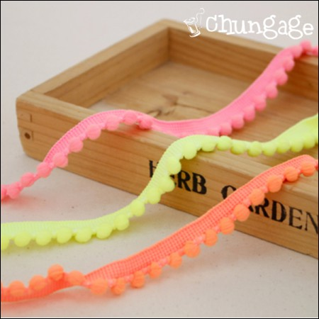 Cotton bell lace stitch fluorescent color (2Hermp / 3 species)
