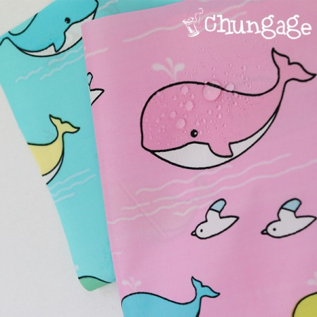 (Dupo waterproof fabric) Whale dreams (2 kinds)
