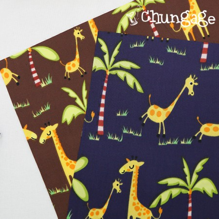 Large-Dyuposu waterproof fabric) Jungle giraffe (two species)