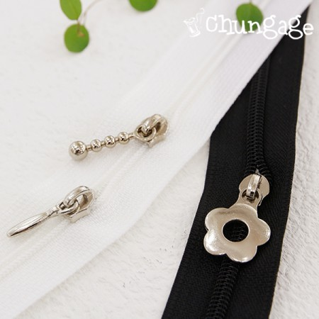 No. 4 Zipper headdress scrim (2 pieces / 3 kinds)