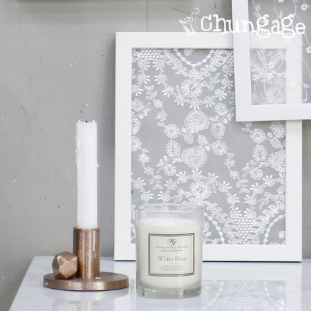 Table Runner Mesh Lace R007 Mirror Picture Frame White