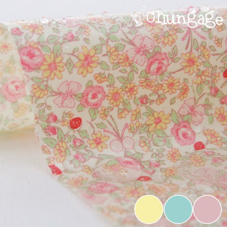 Waterproof Fabric Non-toxic TPU Laminate) Pastel Garden (3 kinds)