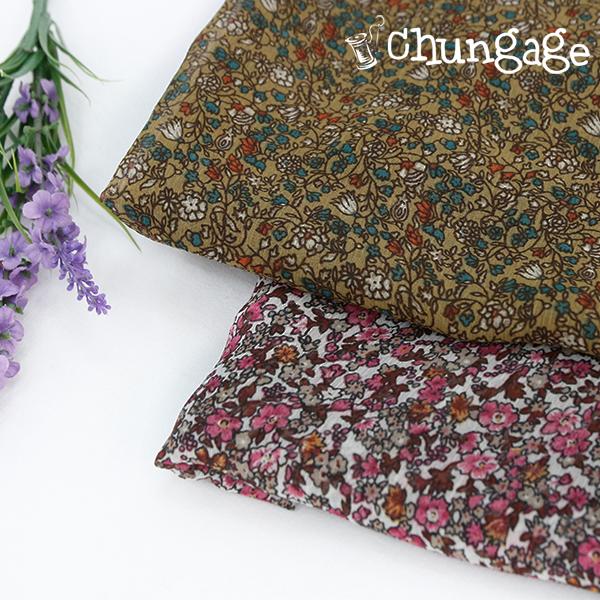Large-yoru chiffon) Vintage floral (two kinds)