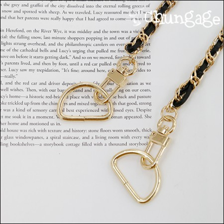 Bag Material Dring bag strap ring Gold (4 pieces / 3 species)