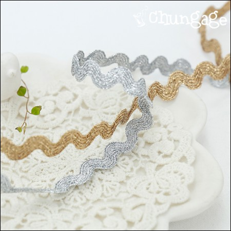 Torshon Lace S-shaped curved wave bellows lace (2 species)
