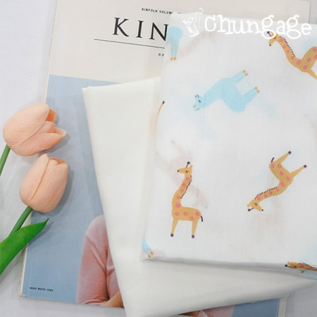Handkerchief cut paper) Giraffe friend (two kinds)