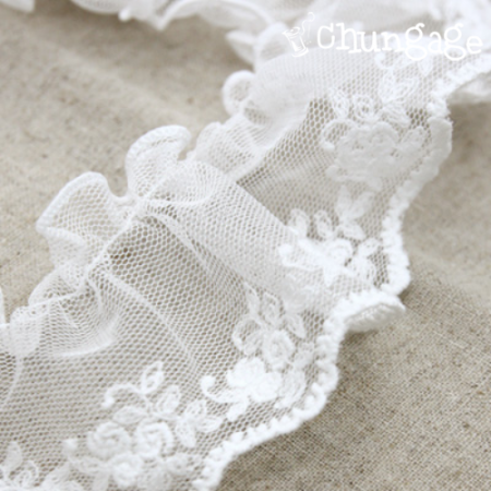 Wrinkles Lace Wrinkles010 Mini Rose Mesh Lace whiteivory