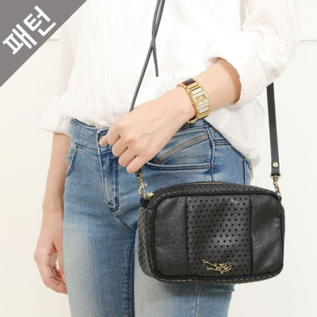 Patterns-Bag) Punching Leather Cross Bag [P983]