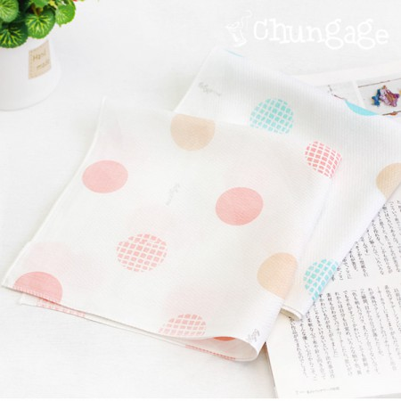 Bamboo embossed gauze handkerchief) Bubble pop (two kinds)