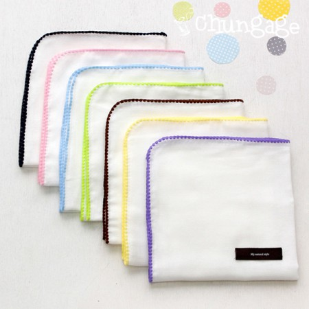 Stitch handkerchief) marshmallow (7color)