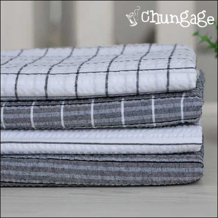 Cotton Seersucker) Stripe Check (4 kinds)
