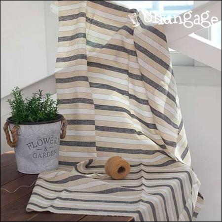 -Linen) Yellow Gray Stripe [N02B]