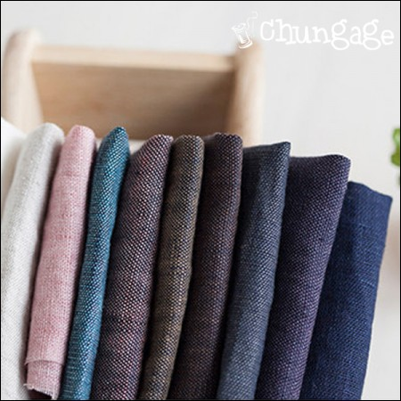 Great-Pure Linen) Natural Washing Dyed Solid (10 kinds)