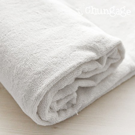 100% bamboo primium double-sided towel (white child)