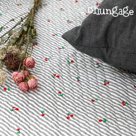 Cotton 20 Horizontal Straight Nouveau Fabric) Cherry Milk