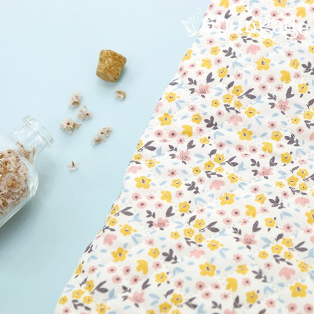 Cotton 20 Horizontal Straight Nozzle Fabric) Melange Garden