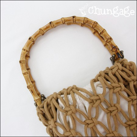 Bag handle Natural bamboo handle