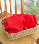 Large-wool linen) Red plain