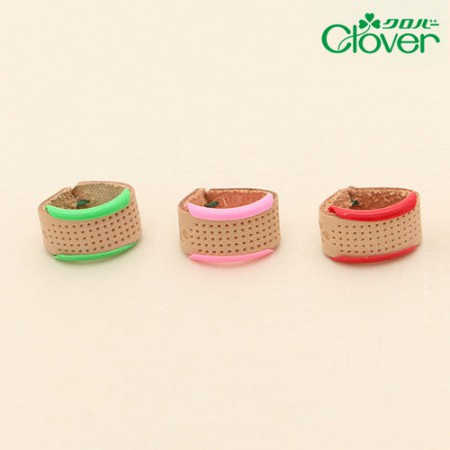 Thimble Clover Leather Ring Thimble 3 Color Set