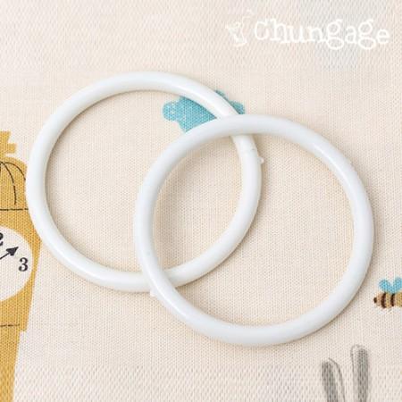 Circular rings Plastic rings 65mm Ivory