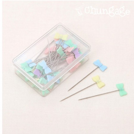 Basic set of needle pins Pastel ribbon Sipple pin