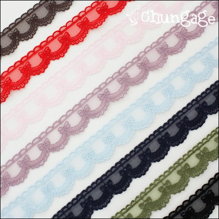 Mesh Lace Mesh013 Double-sided ribbon small (8 species)
