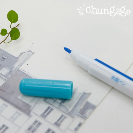 French embroidery water-repellent water-soluble pen Blue