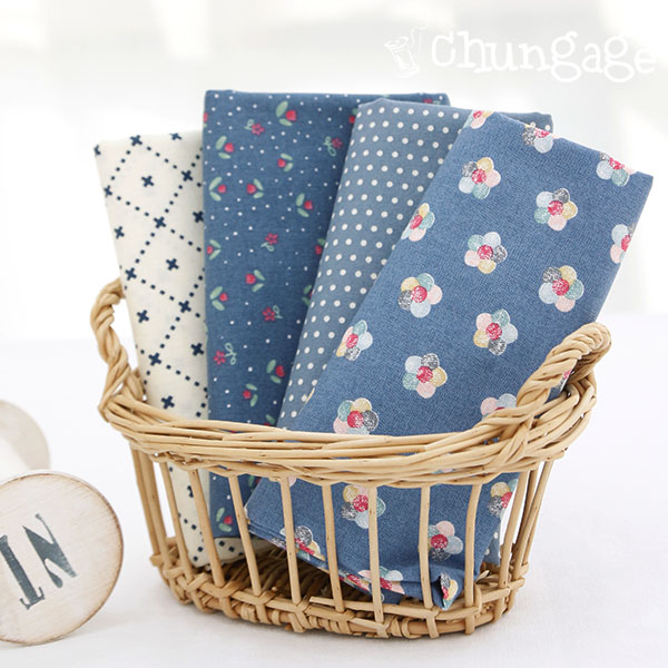 Fabric Package) Blue dot (4 pack) 1 / 4Hermp
