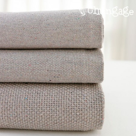 Large-cotton blend fabric) Popcorn Gray (3 kinds)