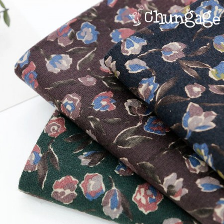 Large-width brushed fabric) Dark Rose (3 species)
