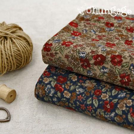 Large-sized brushed fabric) Flower story (2 kinds)