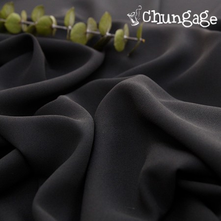 Large-poly) wool pitch black [A-445]
