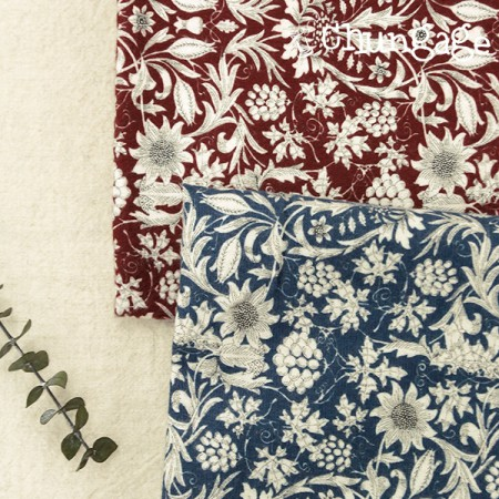Large-sized brushed fabric) antique garden (two kinds)