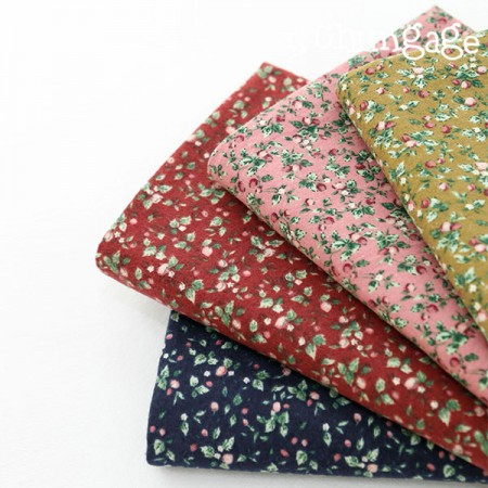 Large-width brushed fabric) Lisa flower (4 kinds)
